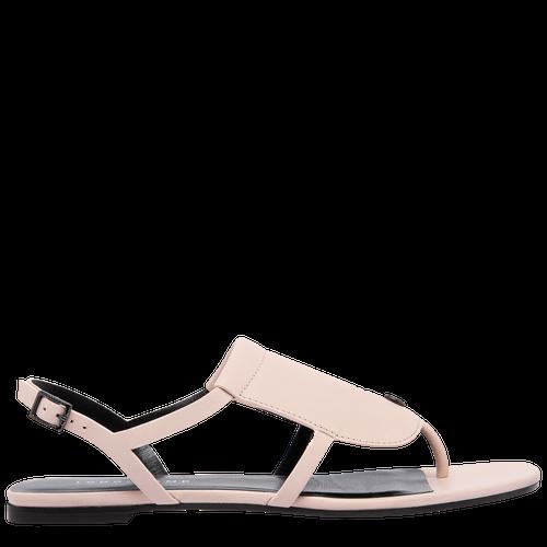 Sandales plates, Rose Pâle - Vue 4 de 6 -