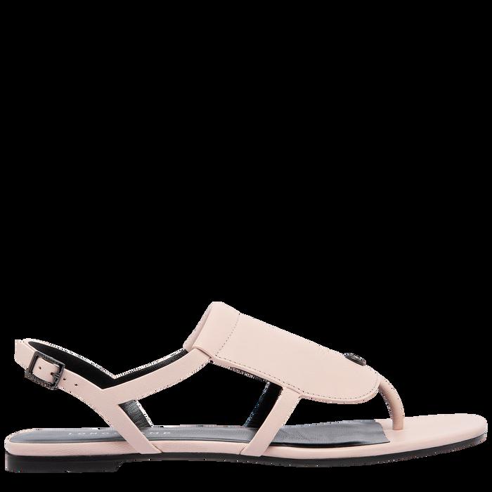 Sandales plates, Rose Pâle - Vue 4 de 6 - agrandir le zoom
