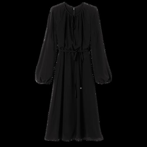 Robe midi, Noir/Ebène - Vue 1 de 2 -