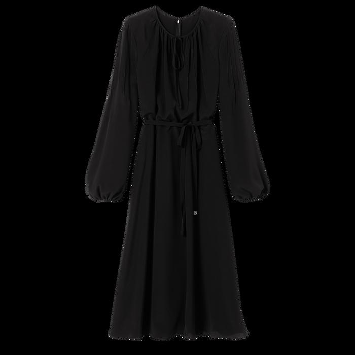 Robe midi, Noir/Ebène - Vue 1 de 2 - agrandir le zoom