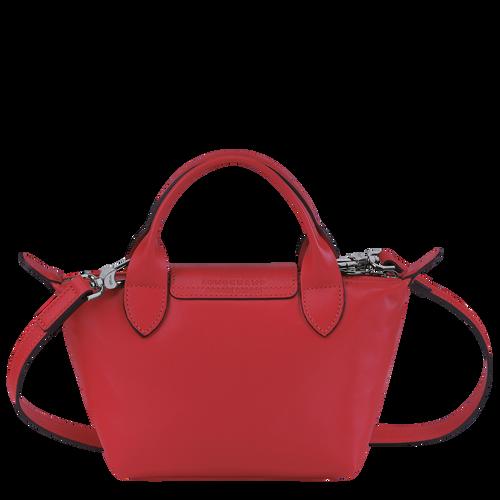 Le Pliage Cuir Top handle bag XS, Red