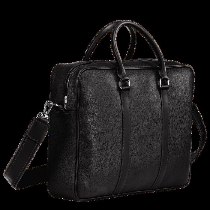 Briefcase M Le Foulonné Black (L2123021047) | Longchamp DK