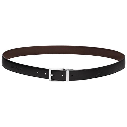 Men's belt, 093 Black/Mocha, hi-res