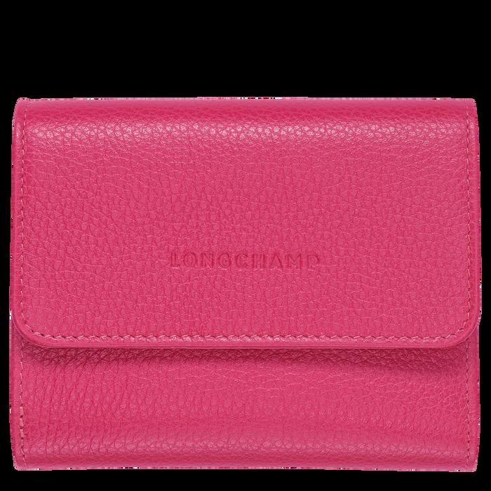 Compact wallet Le Foulonné Pink/Silver (30000021018) | Longchamp EN