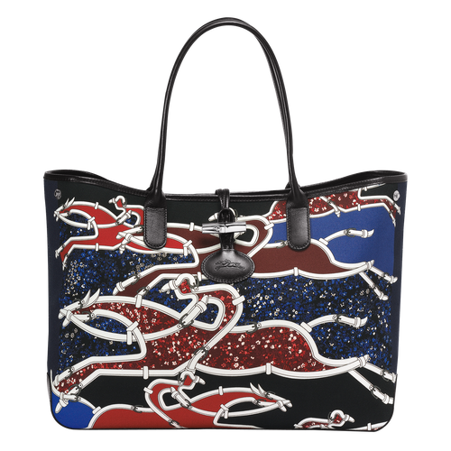 Vue 1 de Sac shopping, B51 Bleu/Rouge, hi-res