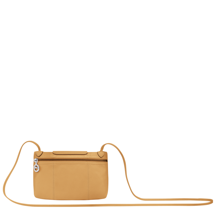 Le Pliage Cuir Crossbody bag, Honey