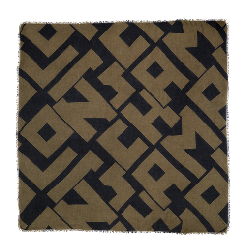Shawl, Black/Khaki, hi-res - View 1 of 1
