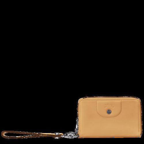 Portefeuille compact, Miel - Vue 1 de 2 -