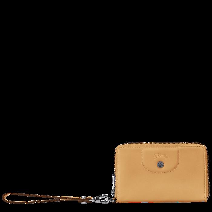 Portefeuille compact, Miel - Vue 1 de 2 - agrandir le zoom