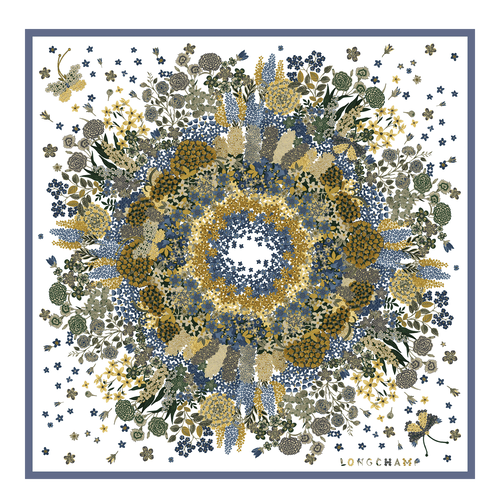 Fall-Winter 2021 Collection Silk scarf, Slate