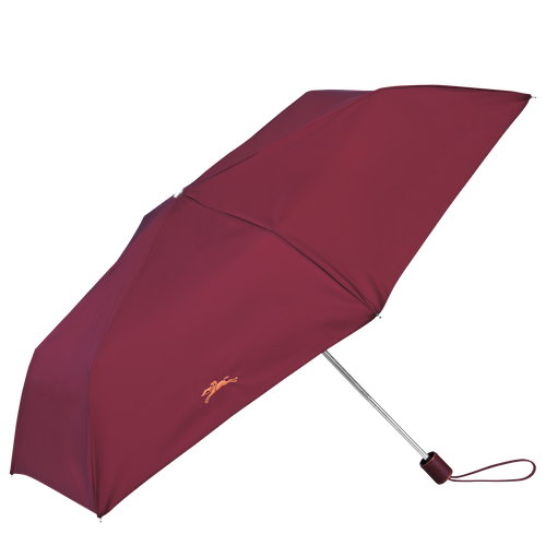 Retractable umbrella, Garnet red, hi-res - View 1 of 1