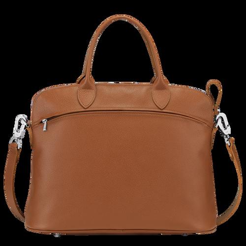 Top handle bag M Le Foulonné Caramel (10093021F72)   Longchamp US