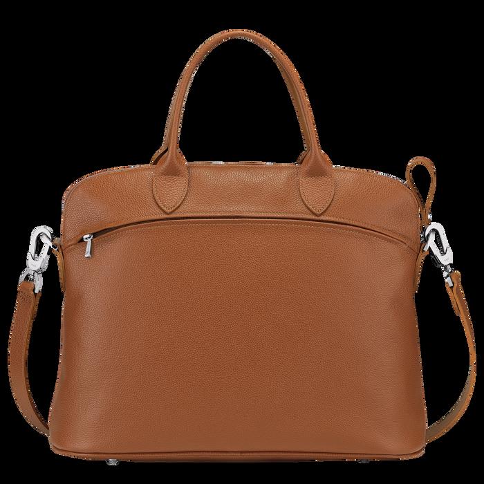 Le Foulonné Top handle bag M, Caramel