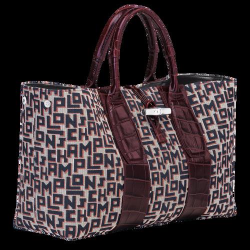 Top handle bag L, Mahogany - View 3 of 4 -
