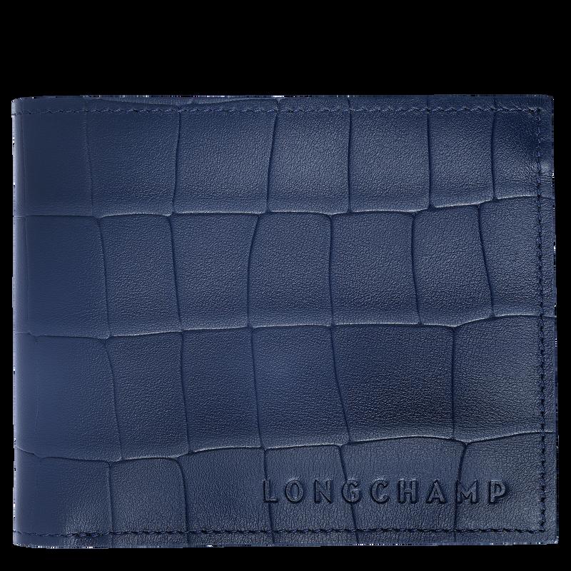 Croco Block Wallet, Navy