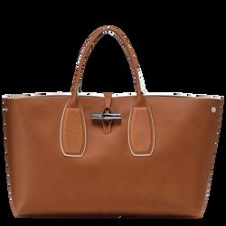 Top handle bag L, Cognac, hi-res