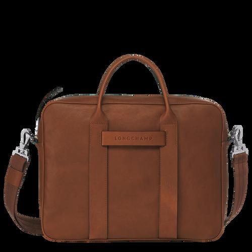 Briefcase M, Cognac, hi-res - View 1 of 3