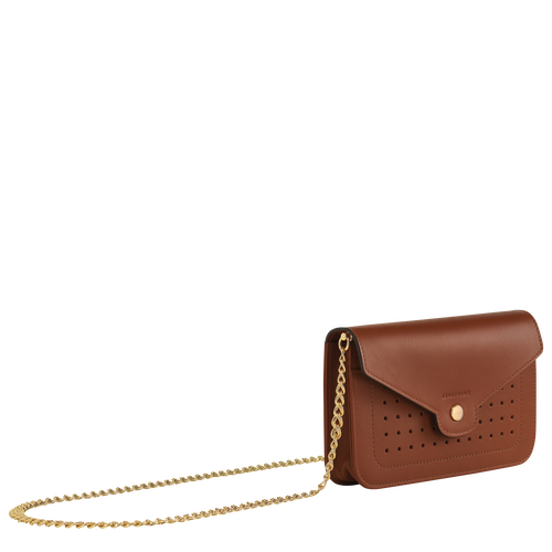 View 2 of Wallet on chain, Cognac, hi-res
