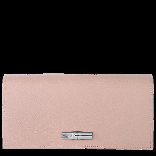Roseau Long continental wallet, Powder