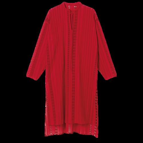 Collectie voor Lente/Zomer 2021 Midi-jurk, Rood