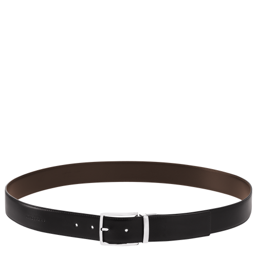 Men's belt, Black/Mocha - View 1 of  1 -