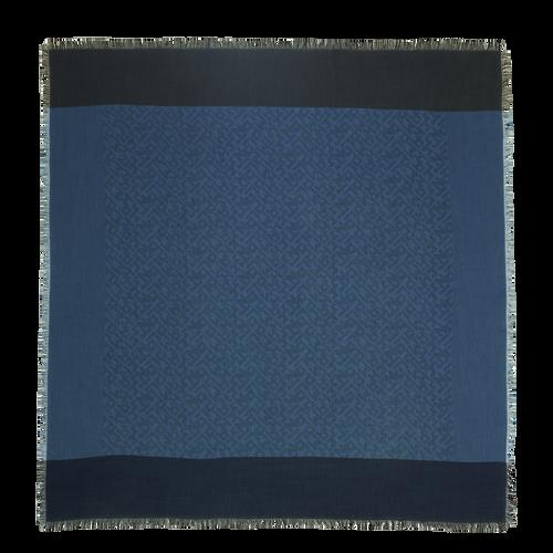 Vue 1 de Châle, Bleu Jean, hi-res