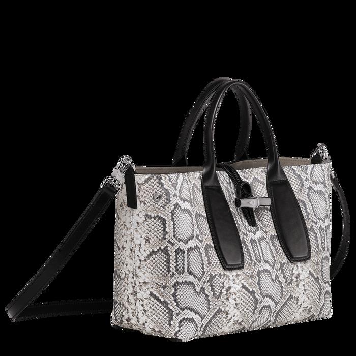 Top handle bag M, Black/White, hi-res - View 2 of 3