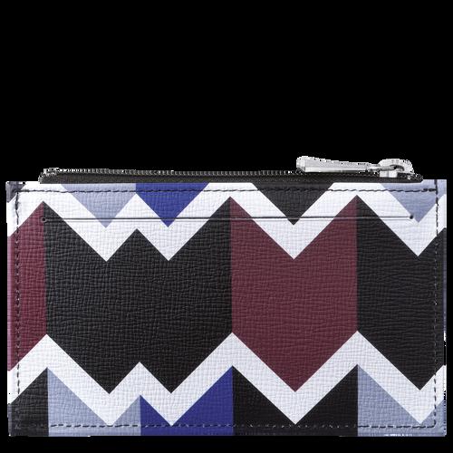 Portemonnaie, Mahagoni/Blau - Ansicht 2 von 2 -