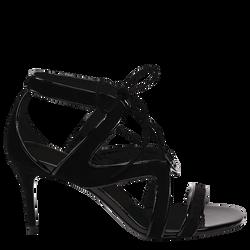 High-heeled sandals, 001 Black, hi-res