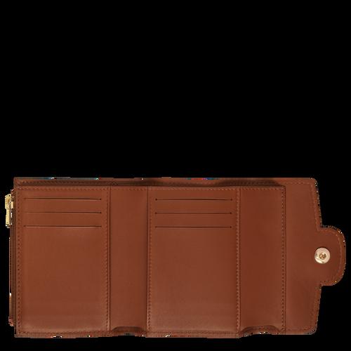 Portefeuille compact, Cognac - Vue 2 de 2 -