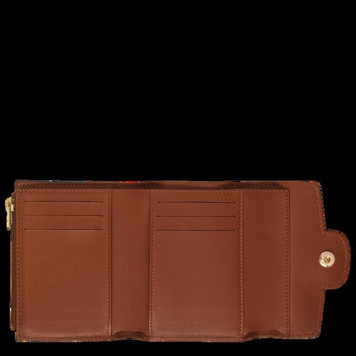 Portefeuille compact, Cognac - Vue 2 de 2 - agrandir le zoom