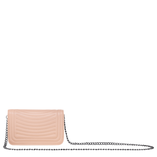 View 3 of Wallet on chain, Antique Pink, hi-res