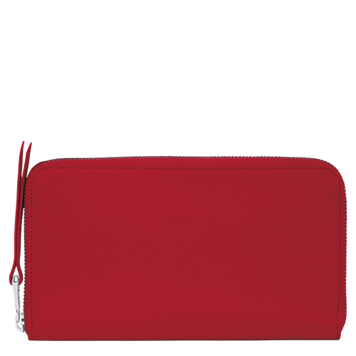 Long zip around wallet, Red, hi-res - View 1 of 2