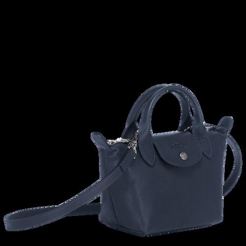 Le Pliage Cuir Top handle bag XS, Navy