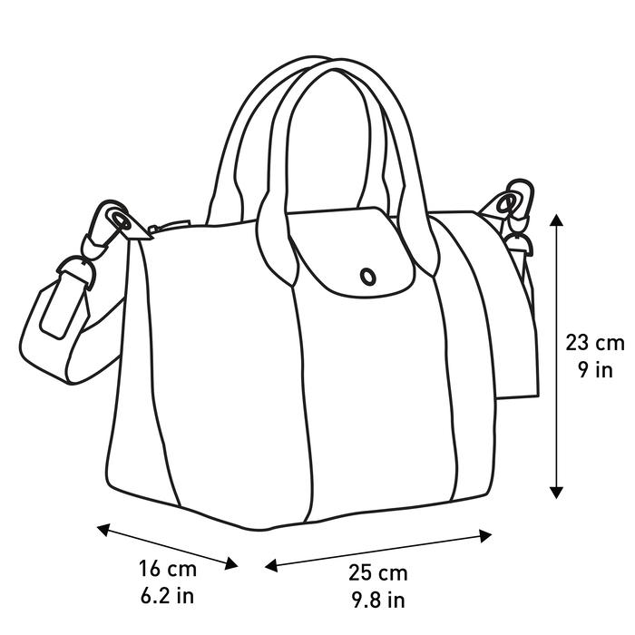 탑 핸들백 S, 블랙 / 에보니 - 4 이미지 보기 4 - 확대하기