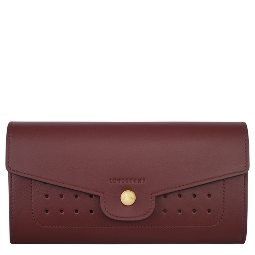 Long continental wallet, Burgundy - View 1 of 2.0 -