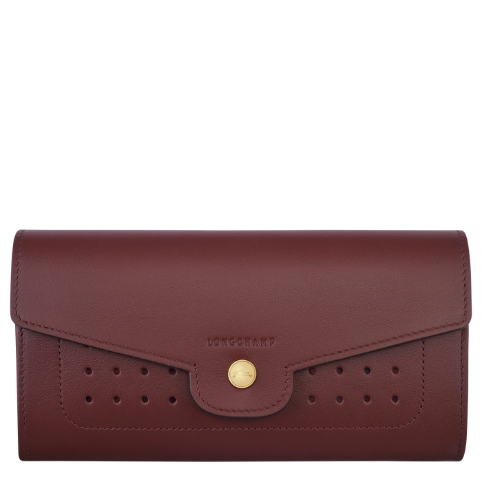 Long continental wallet, Burgundy - View 1 of 2.0 - zoom in