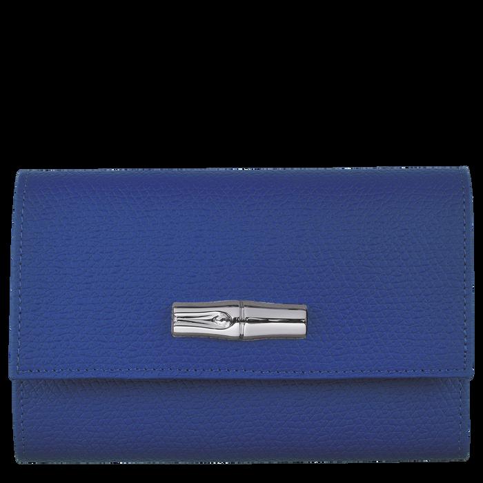 Roseau Portefeuille compact, Bleu