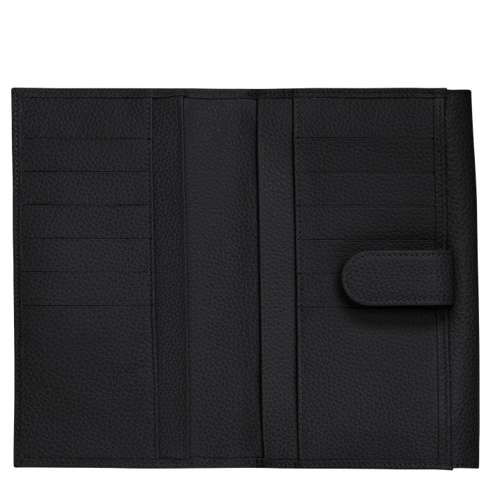Long continental wallet, Black - View 2 of  3 - zoom in