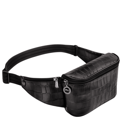 Croco Block Belt bag, Black