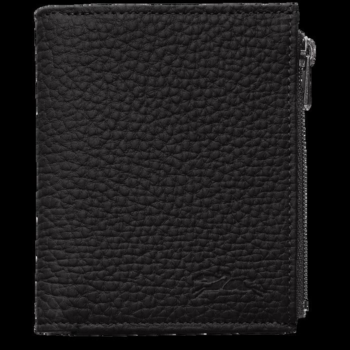 Portefeuille compact, Noir/Ebène - Vue 1 de 2 - agrandir le zoom