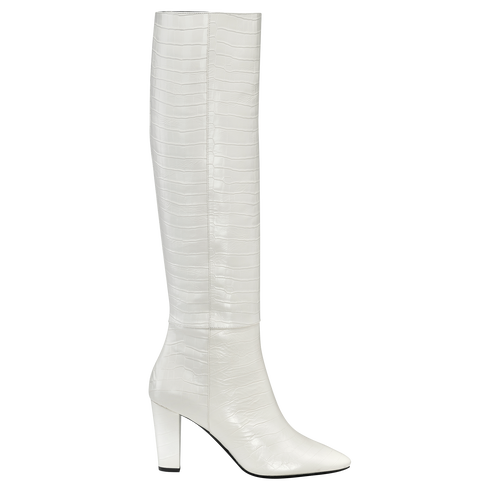 Fall-Winter 2021 Collection Heeled boots, Ivory