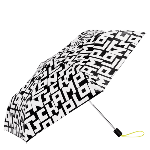 Retractable umbrella, Black/White, hi-res - View 1 of 1