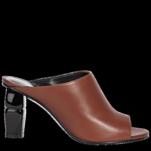 High-heel mules, Cognac, hi-res - View 1 of 2