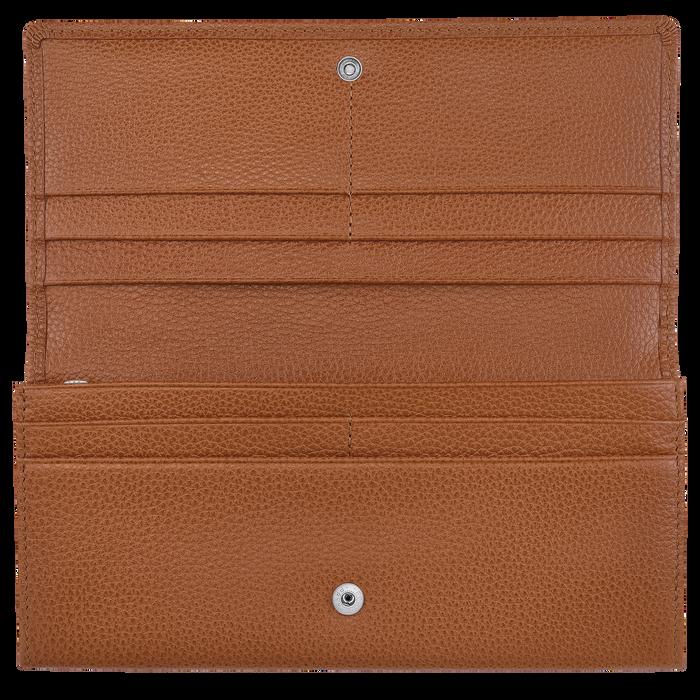 Lange Geldbörse mit Überschlag, Caramel, hi-res - View 2 of 2