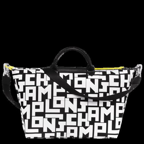 Travel bag L, Black/White - View 3 of  3 -