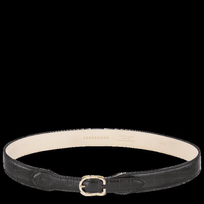 Longchamp 1980 Ladies' belt, Black