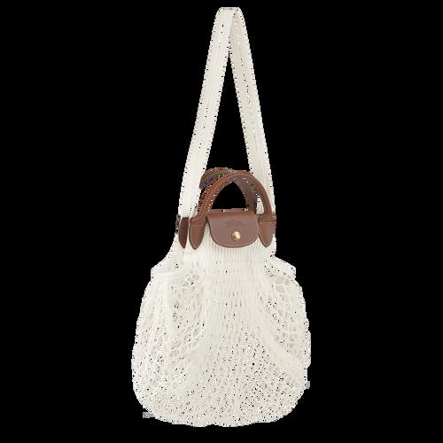 Le Pliage filet Top handle bag, Ecru