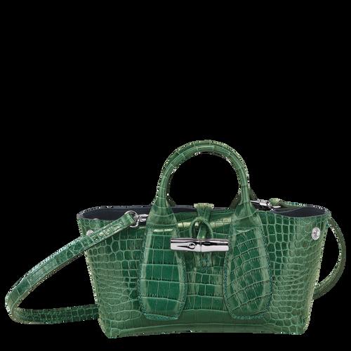 Top handle bag XS, Green havana - View 2 of  4 -