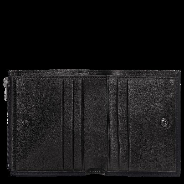 Kleine portemonnee, Zwart/Ebbenhout - Weergave 2 van  2 - Meer inzoomen.